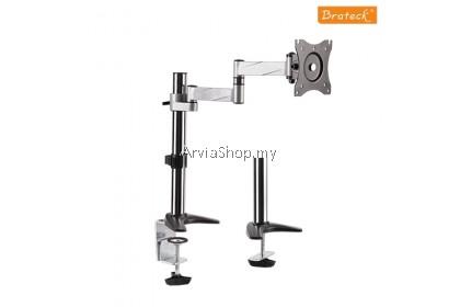 Brateck Single Full  Motion Desk Monitor Bracket 13 inches-27 inches - DMC11C12-SVR