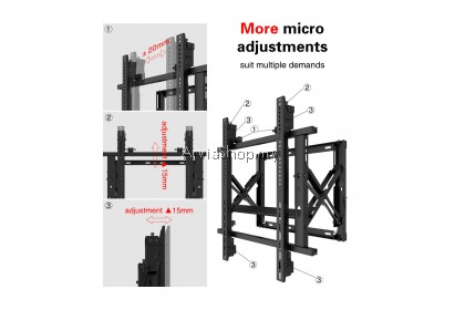 Arvia Gas Spring Micro Adjusted Video Wall Mount from 50''-70'' - GV-70