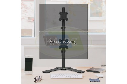 Kaloc Dual-screen Height Adjustable LCD Monitor Arm 17 to 27 Inch - DW120T-BLK