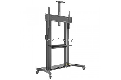 Kaloc Mobile TV Stand With Wheels Rolling TV Cart For 60 to 100 Inch – AF100-BLK