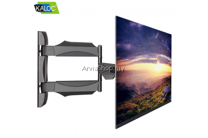Kaloc Adjustable Full Motion Ultra Slim Swivel Tilt LCD TV Wall Mount for 32 to 55 inch -X4