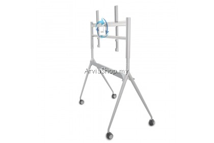 "Adjustable Crank Mobile Stand from 60"" to 75"" - YU-T65-WH"