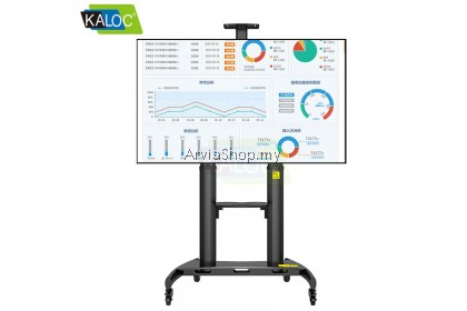 Kaloc Height Adjustable Multimedia Carts TV Mounts for 50-80inch  - TS190-BLK